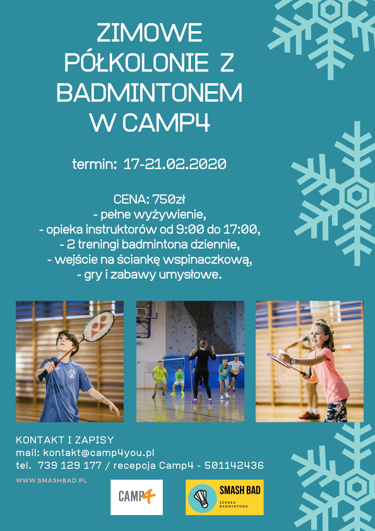 Półkolonie z Badmintonem